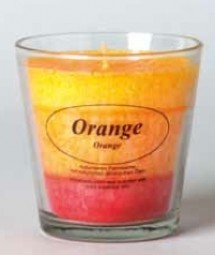 Bio Stearin Kerze im Glas - Orange