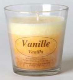 Bio Stearin Kerze im Glas - Vanille
